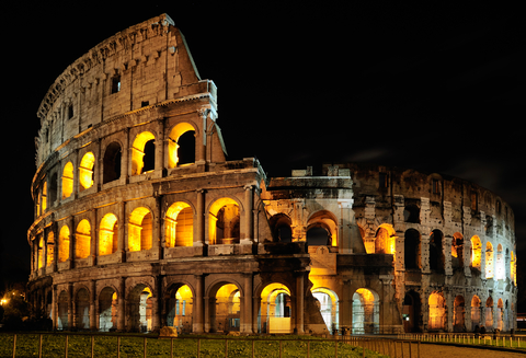 Colosseum in de nacht