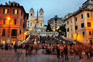 winkelen in Rome in gebied rond Spaanse trappen